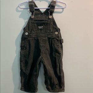 Infant Boys Oshkosh Gray Corduroy Overalls